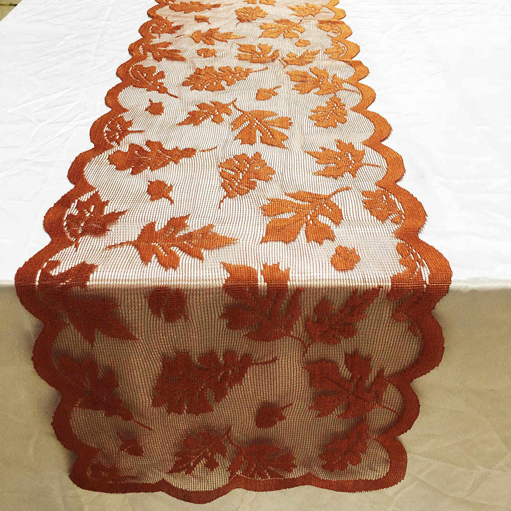 Maple Leaf Lace Flower Tablecloth Table Runner Tables Cloth Wedding Kitchen Christmas Xmas Home Decor Party Supplie