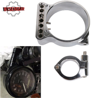 Chrome CNC Billet Speedo Relocation Bracket For Harley Sportster XL 883 1200 XL883 XL1200 C N