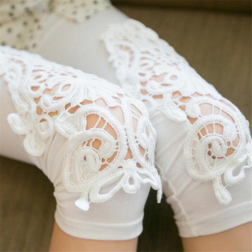 CHSDCSI Hollow Out Lace Pants Summer New 2020 Plus Size Casual Capris For Women Slim Elastic Cotton Gray White Ladies Capris