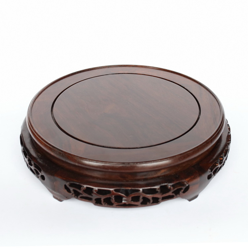 Wood Vases of Buddha Flowerpot Big Base Solid Wood Household Act The Role Ofing Is Tasted Handicraft Furnishing Articles