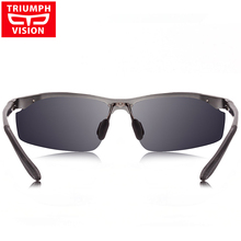 TRIUMPH VISION UV400 Polarized Sun Glasses For Men Driving Driver Polaroid Male Sunglasses Men Aluminum Magnesium Shades Brand