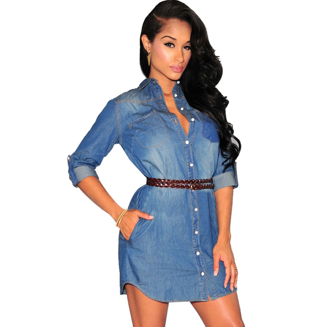 Popular Denim Ruffle Dress Plus Size-Buy Cheap Denim Ruffle Dress ...