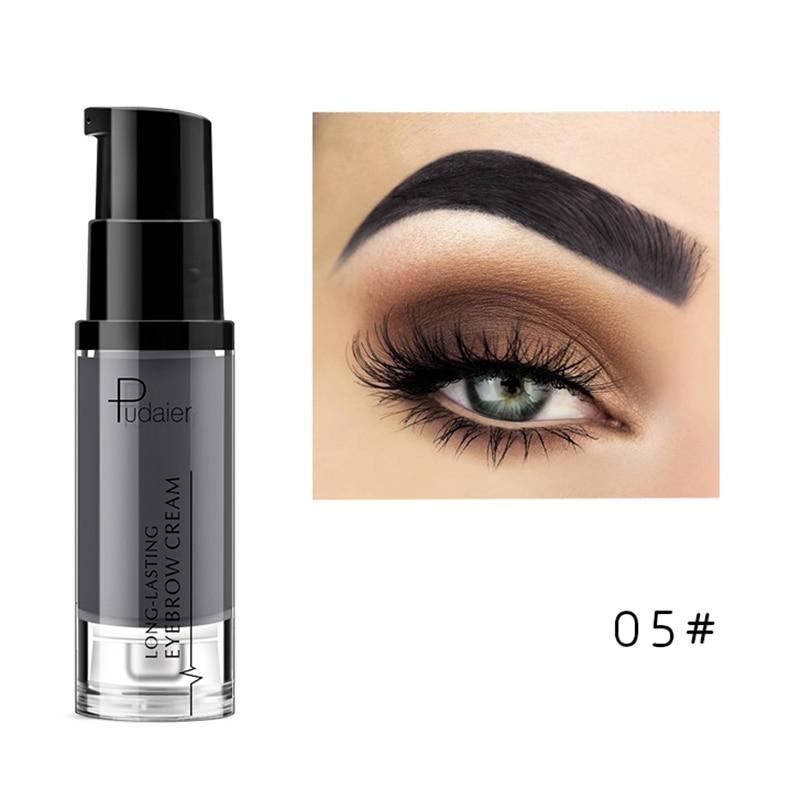 Pudaier, водостойкий Гель для макияжа в форме бровей, стойкий оттенок, тени для естественного увеличения бровей, крем, легко окрашиваемый, TSLM2 - Цвет: 05