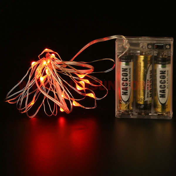 (5pieces/ lot) 2M 20 Lights Holiday LED Battery String Lights, Xmas Decoration Fairy Light with Copper Wire