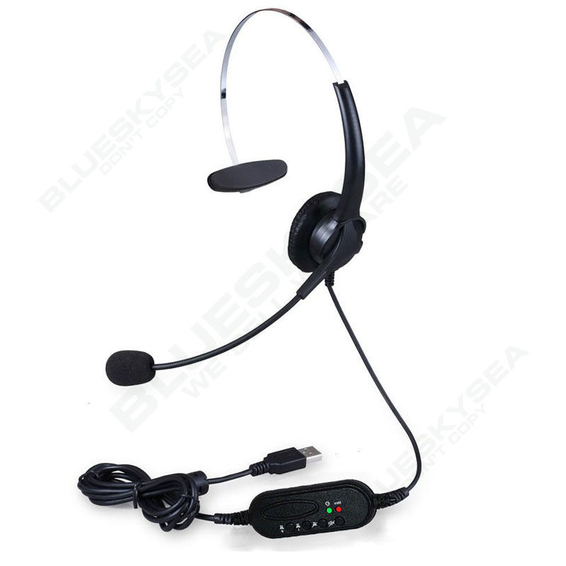 Blueskysea 3pcs/lot USB Stereo Headset Earphone Telephone Headphone with Mic for Computer Laptop hands free headphones usb plug monaural headset call center computer customer service headset for pc telephone laptop skype chat