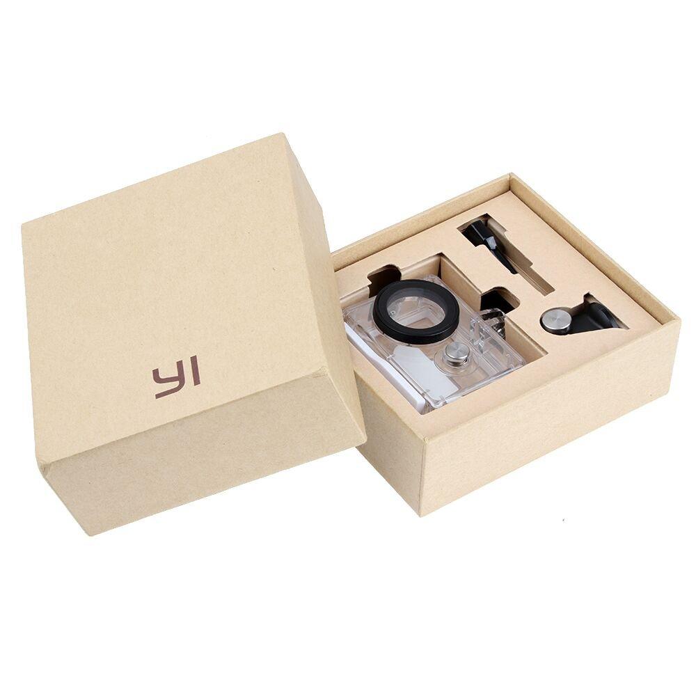 Купить с кэшбэком Original Xiaoyi Waterproof Housing Case for Xiaomi Yi Camera Diving 45m under water + Lens cover Xiao Mi Yi xiaoyi Accessories