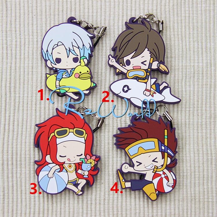 Tales of Zestiria Anime Mikleo Sorey Swim Sea Ver TOZ Rubber Keychain tall tales