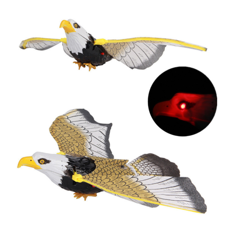 Funny Toys Big Electronic Pet Electric Eagle Flying Bird Led Light Eye Glowing Sound Bird Hawk Toys Kids Educational Toys Gift
