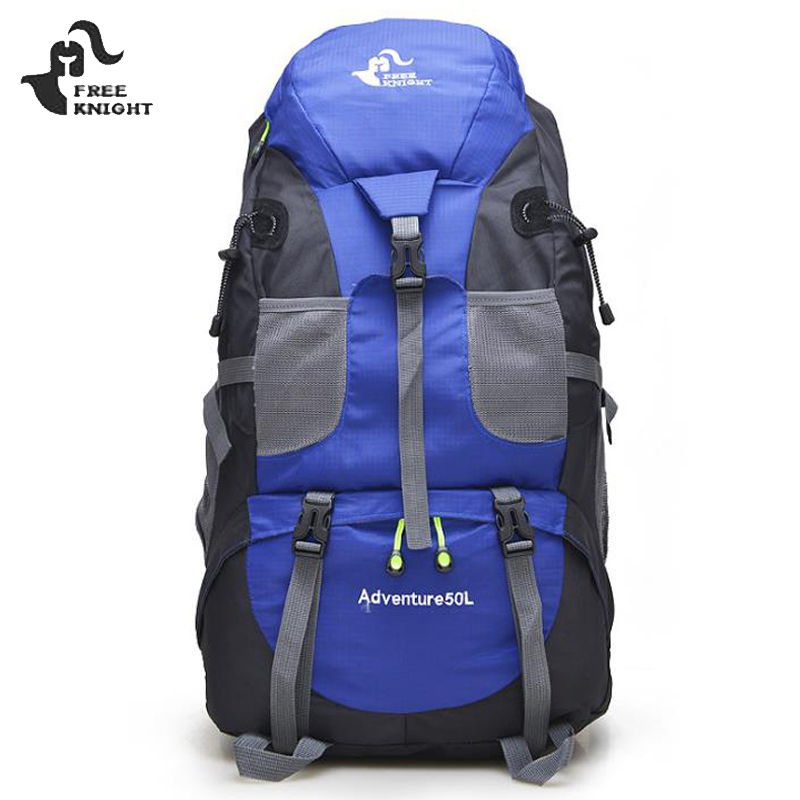 2018 Hot 50L Large Waterproof Climbing Hiking Backpack Rain Cover Bag Camping Mountaineering Backpack Sports Outdoor Bike Bag outdoor 50l sports bag large capacity men travel bag mountaineering backpack hiking camping waterproof bag
