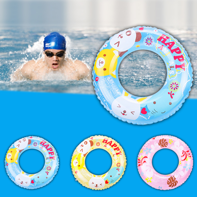 Newest Inflatable Circle Baby Swimming Ring Kids  Infant Underarm Swimming Ring Floating Aid Cute Patterns Pool Float Swim Rings
