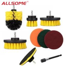 ALLSOME 9 stücke Bohrer Pinsel Peeling Pads Power Wäscher Reinigung Kit Reinigung Pinsel für Power Tool HT2776