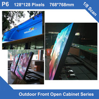 TEEHO LED Display TV outdoor led cabinet P6 fixed use Front Maintainance Cabinet 768mm*768mm 1/8 scan led module Panel cabinet