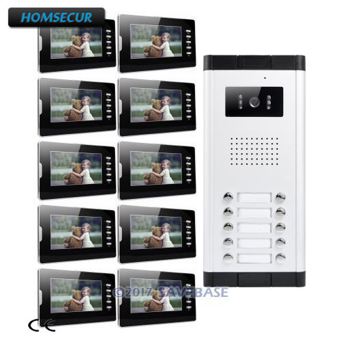 HOMSECUR 7 Wired Video Doorbell Security Intercom with LCD Color Screen for Secure Home 1V10