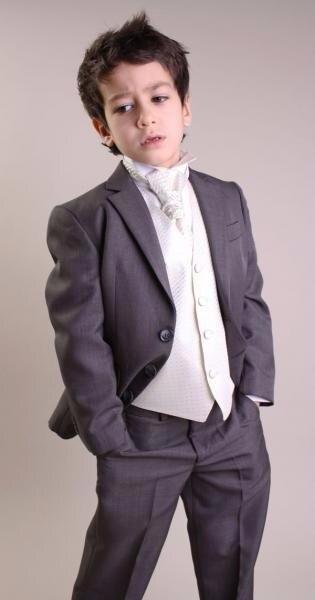 1e319b94d8128 Formal Black Tuxedos for Children Kids Suit Toddler Boys Best Tuxedo Suits  Tux 5 pieces (jacket+pants+vest+tie+handkerchief)