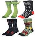 Cool nuevos star wars calcetines hombres algodón novedad sokken odd future calcetines divertidos