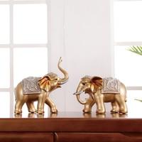 Богатый слон украшения дома креативная Гостиная ТВ винный шкаф Американский и Европейский геомантическое украшение открытие перемещение