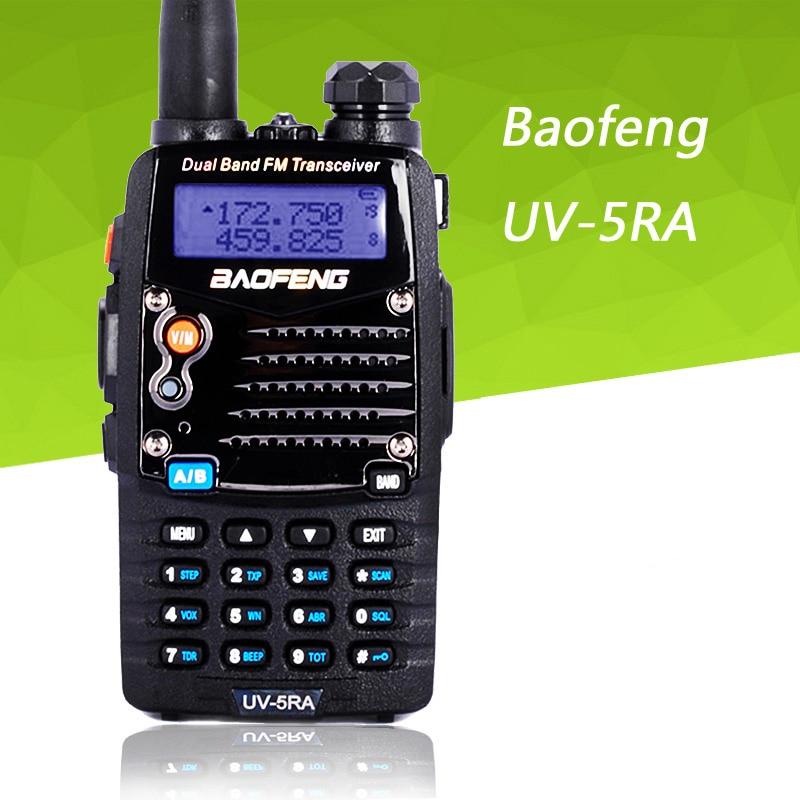 imágenes para Walkie Talkie Baofeng UV5RA UV-5RA radio portátil 136-174 MHz y 400-520 MHz transmisor-receptor, para el jamón, hotel, comercial, el uso de seguridad
