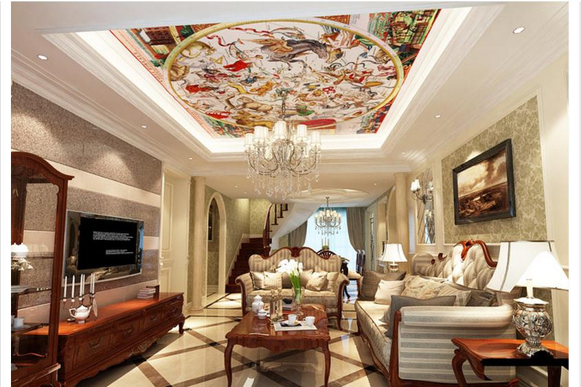 Customized 3d Photo Wallpaper 3d Ceiling Wallpaper Murals Ancient Roman Adornment Ceiling Dome