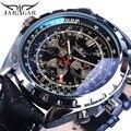 Jaragar Mechanische Automatische Mechanische Sport Uhren Pilot Design Männer der Armbanduhr Top Marke Luxus Mode Männlichen Uhr Leder