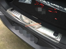 Inner Steel Rear Bumper Protector Sill Guard Plate Cover Trim for Jeep Cherokee 2014 2015 2016