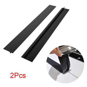 2Pcs Kitchen Silicone Stove Counter Gaps Cover Heat-Resistant Slit Fill Strips HY99 OC10