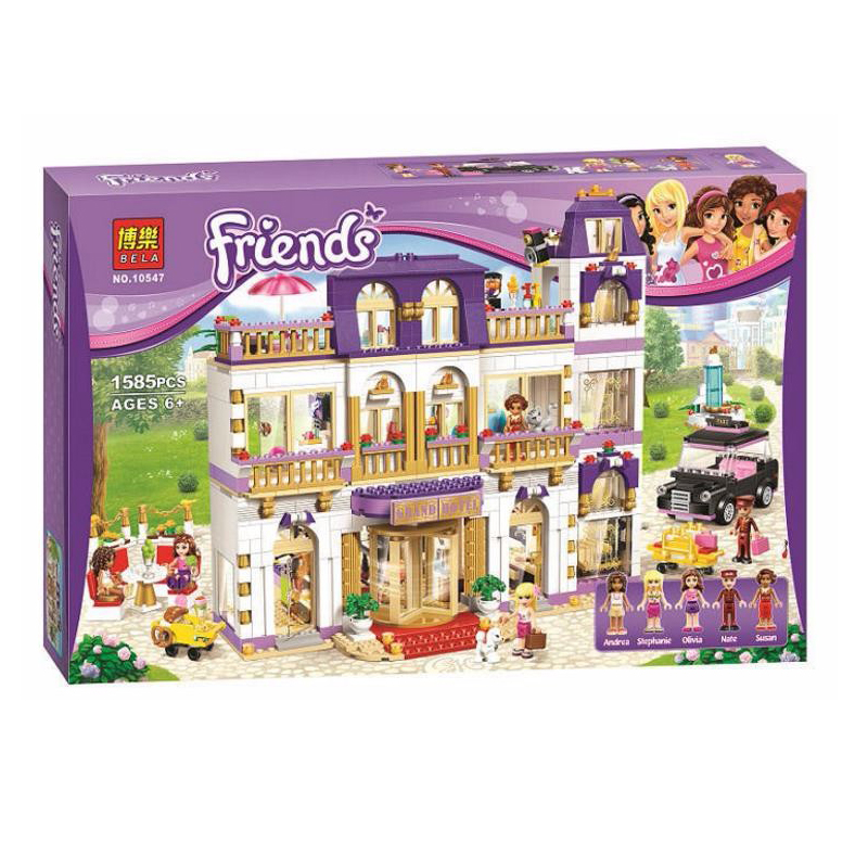 BELA 10547 Girls Friends Heartlake Grand Hotel Figures Building Blocks Kid Model DIY Bricks Toys Gift Compatible With Lepin daiwa спиннинг штек daiwa exceler ru exc ru 962 mlfs 2 90м 5 15г