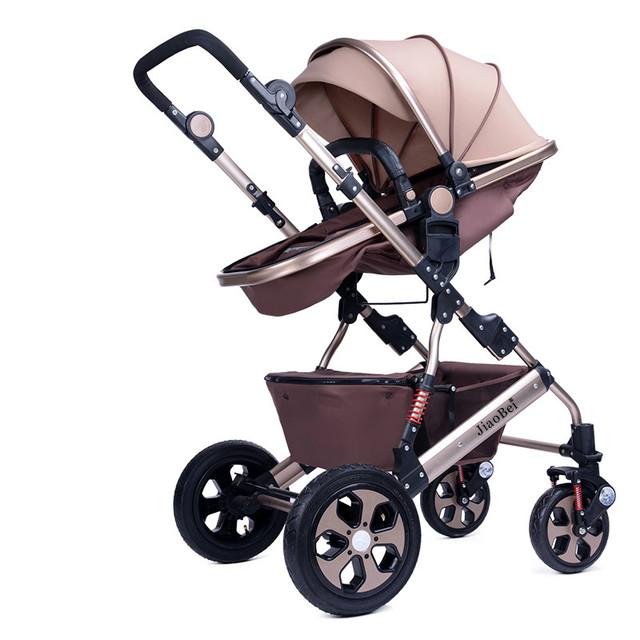 2017 Nuevo Paisaje de Alta Aleación De Aluminio Del Cochecito Plegable Coche de Bebé Puede sentarse Mentira Bebé Cochecitos y sillas de paseo A Prueba de Golpes