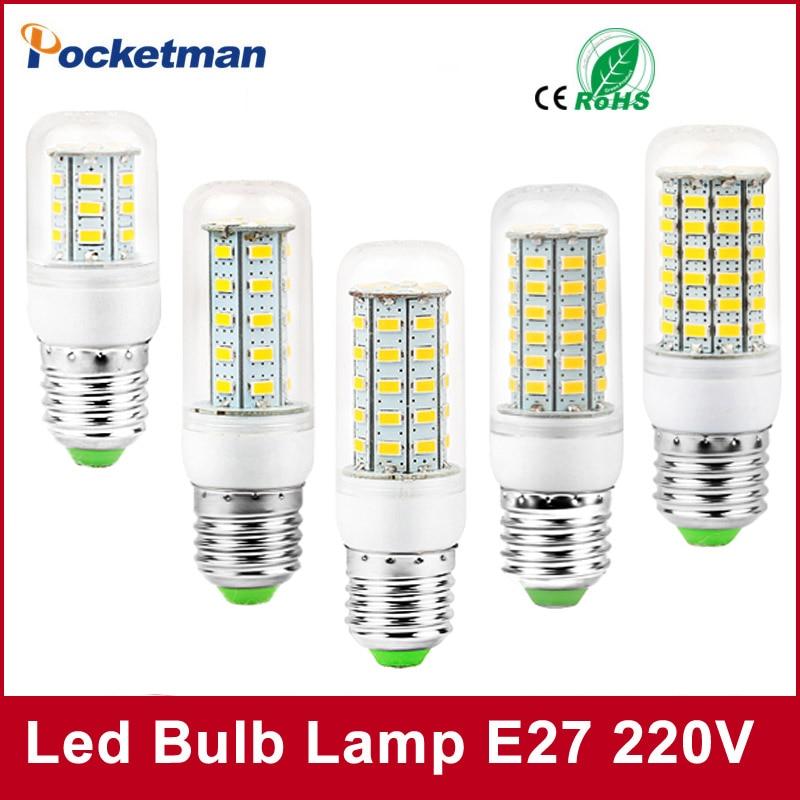 2017 New SMD 5730 LED Bulb E27 E14 AC 220V 230V lampadas LED Lamp Bombillas LED Warm white Cold White Free Shipping lexing lx r7s 2 5w 410lm 7000k 12 5730 smd white light project lamp beige silver ac 85 265v