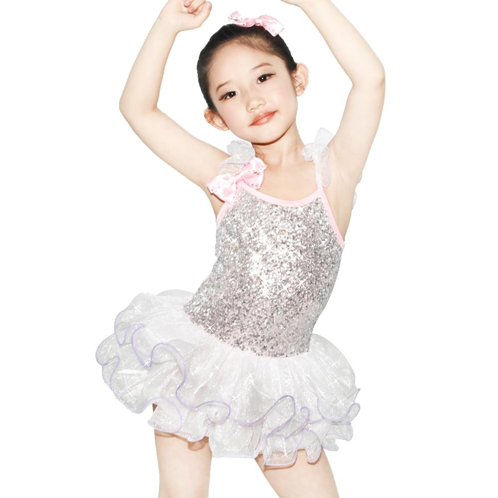 MiDee Ballett Tutu Tanzkleid für Mädchen Pailletten Trikot Kinder Partykleider Hochzeit Blume Mädchen Kleider