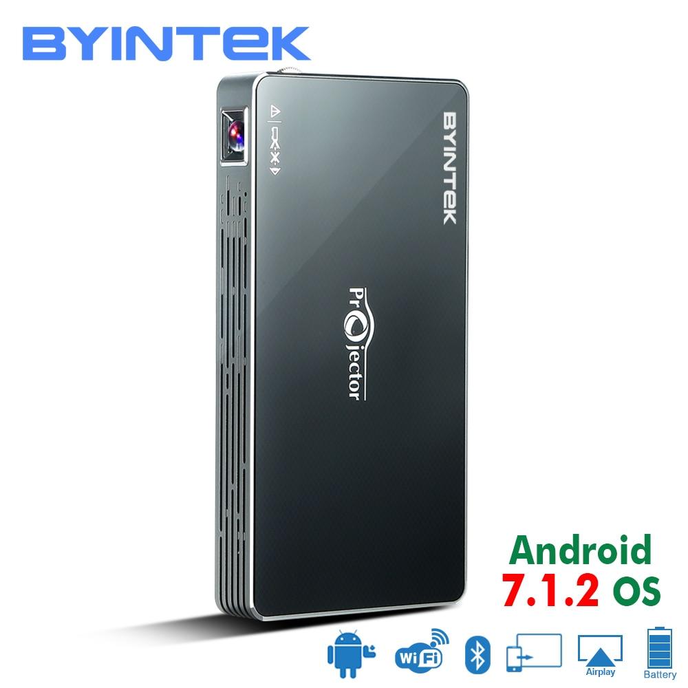 BYINTEK UFO MD322 Portatile Smart Home, Casa Intelligente Theater Tasca Android 7.1.2 OS Wifi Mini HD HA CONDOTTO Il Proiettore Per La Piena HD1080P MAX 4 k HDMI