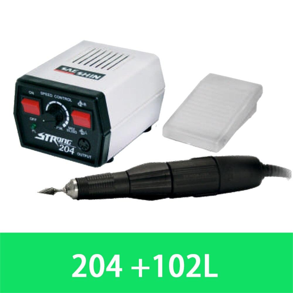New Dental 35K Seashin polishing Strong 204 Micromotor + 102L handpiece Polisher