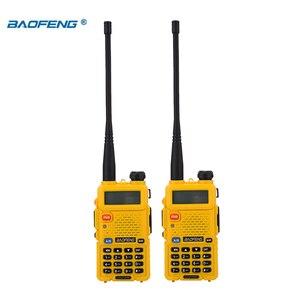 Image 4 - BaoFeng walkie talkie UV 5R 2 teile/los two way radio baofeng uv5r 128CH 5W VHF UHF 136 174Mhz & 400 520Mhz