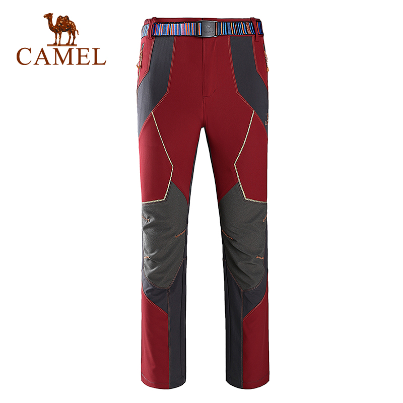 Camel Outdoor Pants Men Waterproof Warm Fleece Hiking Trekking Pants Climbing Camping Sport Softshell Mujer Trousers A6S2Z8106 rax 2015 thermal fleece hiking pants for men women winter outdoor sports warm fleece trousers fleece camping pants 54 4f089