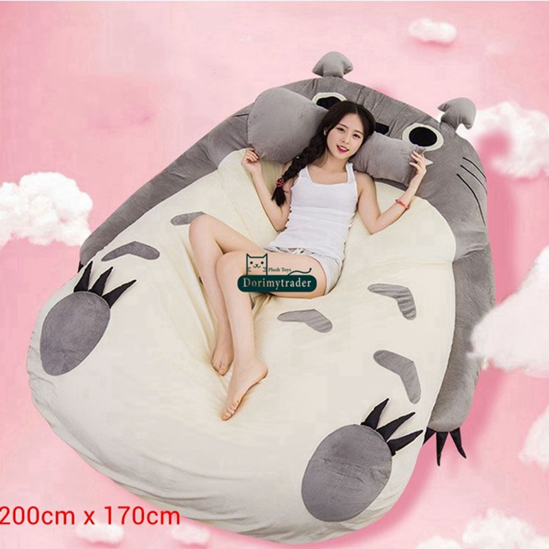 Pleasing Us 124 0 20 Off Dorimytrader Pop Anime Totoro Sleeping Bag Soft Plush Large Cartoon Bed Tatami Beanbag Mattress Kids And Adults Gift Dy61004 In Inzonedesignstudio Interior Chair Design Inzonedesignstudiocom