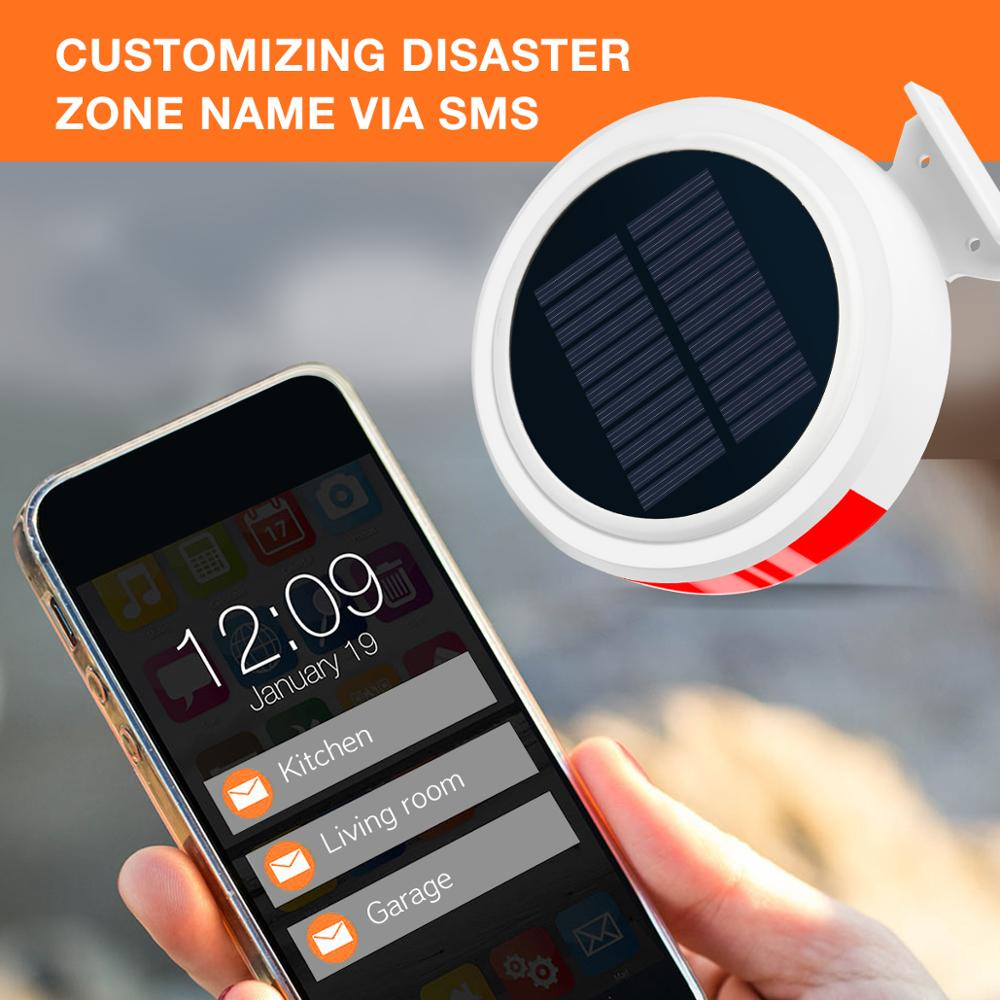 Image 5 - Smart Home Security Alarm System Wireless Solar Powered Anti Burglar Alarm SMS Remote Control PIR Sensor Door Window Sensor-in Alarm System Kits from Security & Protection