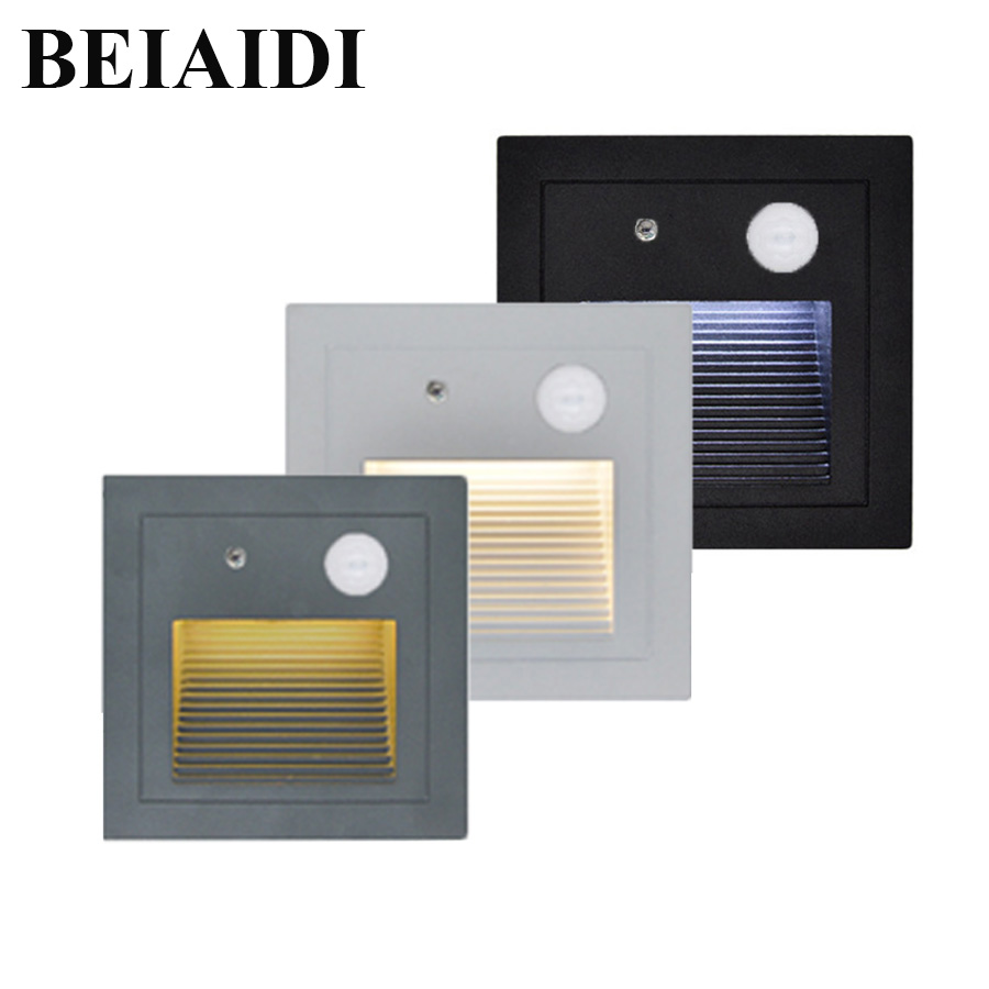Lighting Basement Washroom Stairs: BEIAIDI 6pcs 3W PIR Motion Sensor Outdoor Led Stair Step