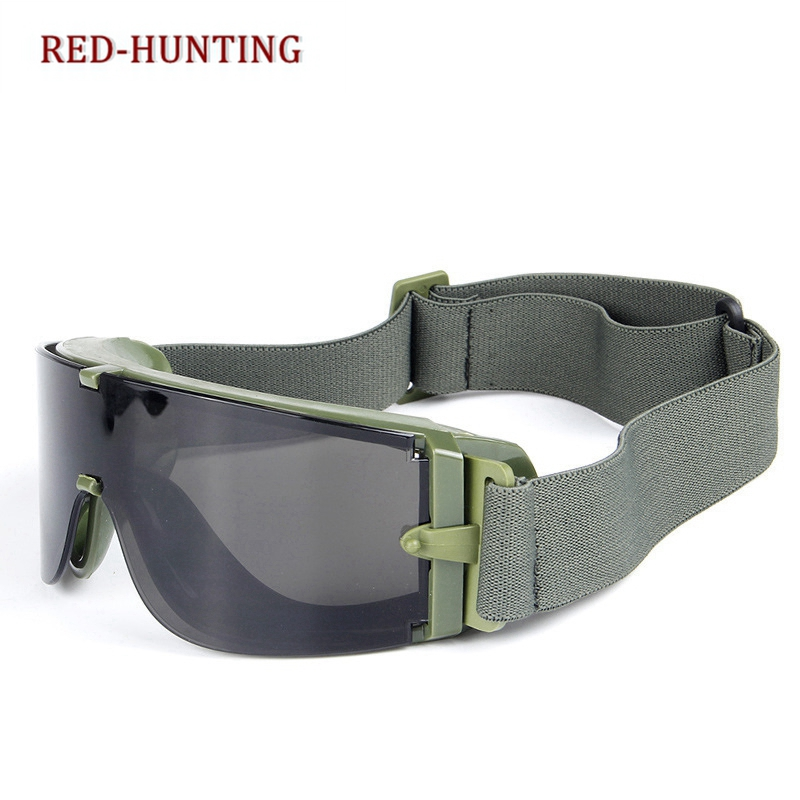 2018 New USMC Airsoft X800 Tactical Cycling Eyewear SunGlasses War Games Goggles Wind-proof Mirrors Include 3 Lens