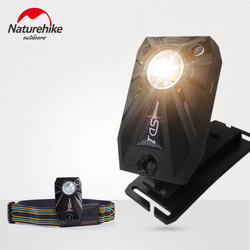 NatureHike Outdoor Camping Hiking Cycling LED Hand Motion Sensor Headlamp USB Rechargeable