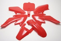 Red Body Plastic Fairing CRF XR 50 SDG SSR BBR Xtreme Coolster 70 125 Pit Bike
