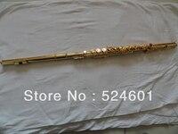 Оптовая продажа инвентаризации 16 отверстий плюс E ключ, с позолотой флейта Музыкальные инструменты