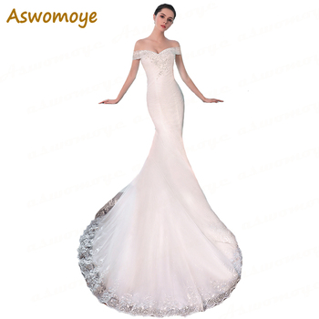 2018 New Fashion Mermaid Wedding Dress Sweetheart Sleeveless Sexy Wedding Dresses Sweep Train Custom Made vestidos de noiva Wedding Dresses