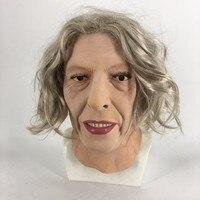 2019 горячая Распродажа, Высококачественная модная резиновая маска для пожилых женщин, маска Тереза Май, Реалистичная маска для вечеринки на ...