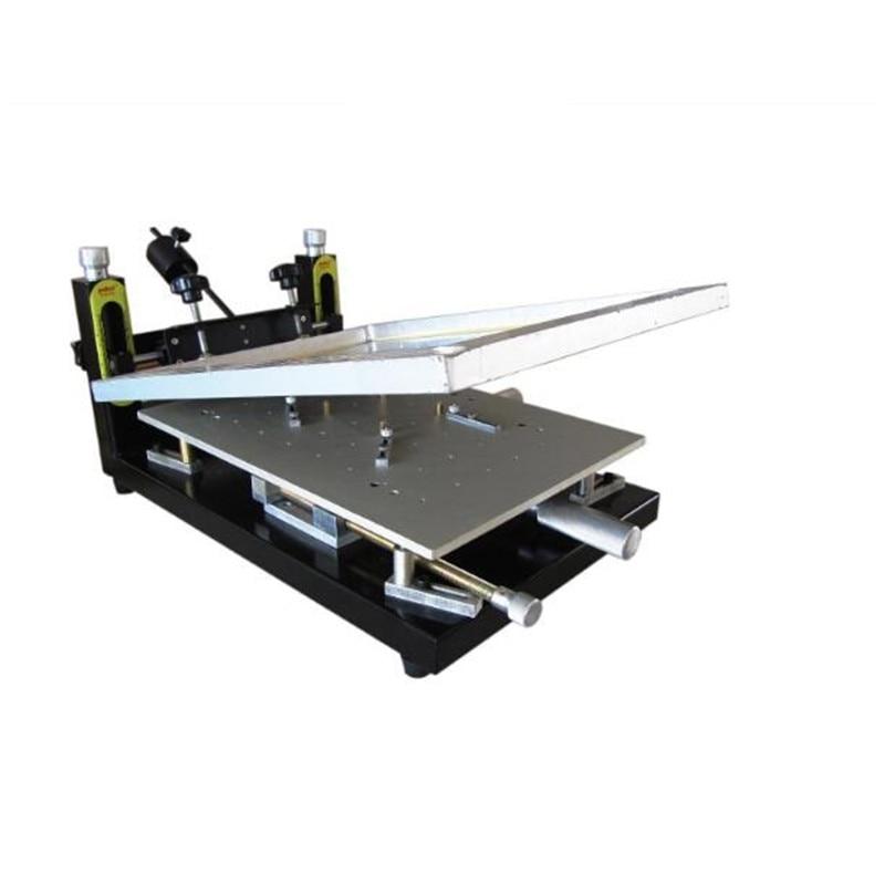 PUHUI Haute Précision Imprimante De Pâte À Souder de soudure de panneau de CARTE PCB 300x400mm Manuel Stencil Imprimante Machine D'impression En Soie