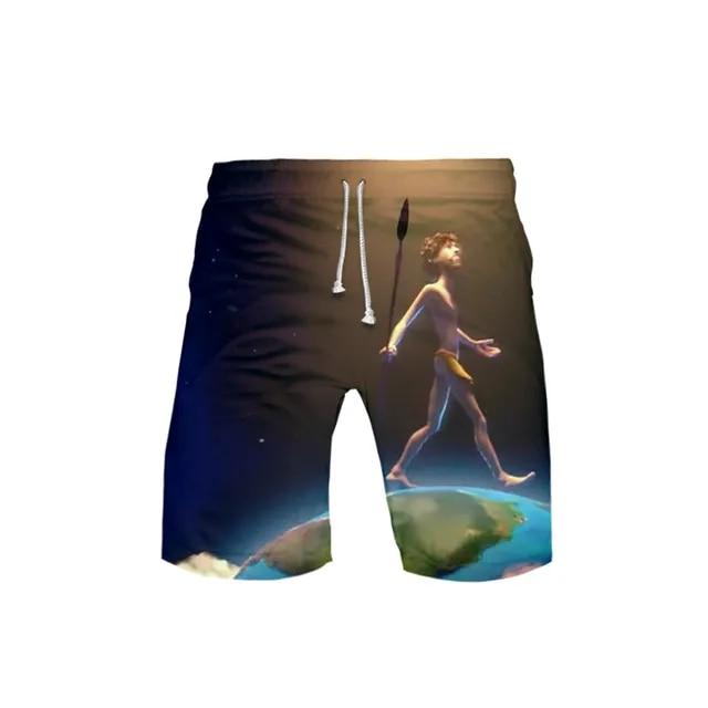 Men's 3D LIL DICKY earth 3DBoard Shorts Trunks 2019 Summer New Quick Dry Beach Shorts Men Hip Hop Short Pants Beach Wear