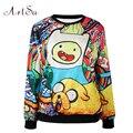 Artsu 2017 moda womens cat hoodies outono inverno 3d galaxy moletons roupas harajuku unicórnio moletom animais epho80243