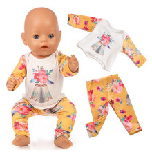 2019 Born New Baby Hot Sale Fit 18 inch 40-43cm Doll Clothes Cactus Unicorn Flamingo Indian Suit accessories For Gift