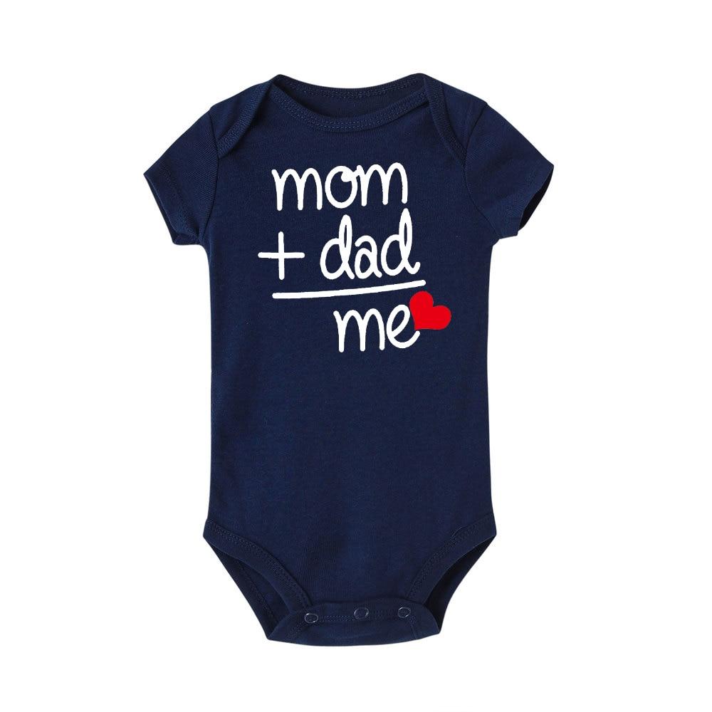 HTB1SKW7JNjaK1RjSZFAq6zdLFXau 8 COLORS Newborn Toddler Baby Boy Girl Dad +Mom Outfit Costume Romper short sleeve Clothes Baby girl roupa de bebe 0-24M