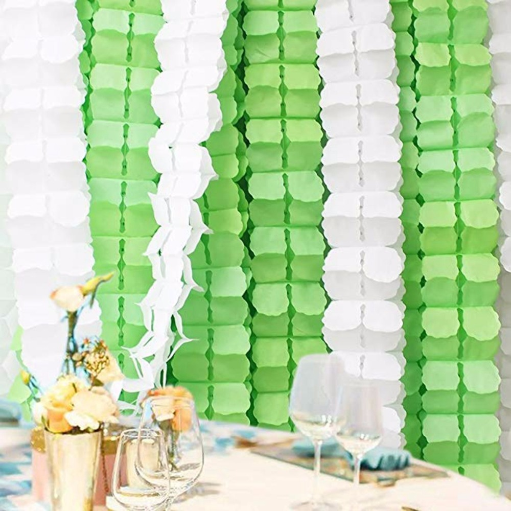 Image 5 - FENGRISE 3.6m Four Leaf Clover Garland Paper Banner Pink Blue Birthday Party Wedding Decoration Bunting Room Hanging Decoration-in Banners, Streamers & Confetti from Home & Garden