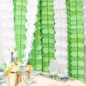 Image 5 - FENGRISE 3.6m 네 잎 클로버 화환 종이 배너 핑크 블루 생일 파티 웨딩 장식 멧새 방 장식 매달려