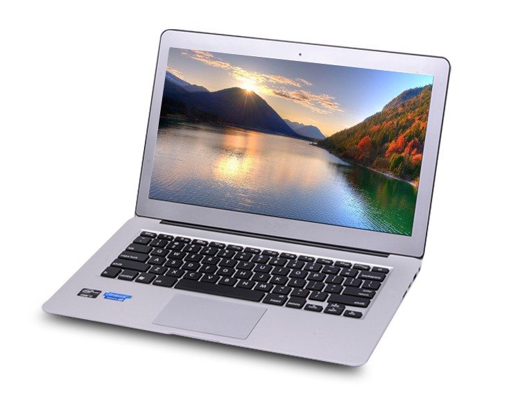 13.3Inch intel I7 5th backlit keyboard Ultrabook Laptop windows 10 Computer 8GB 128GB Aluminium Metal Cover laptops PC free gift